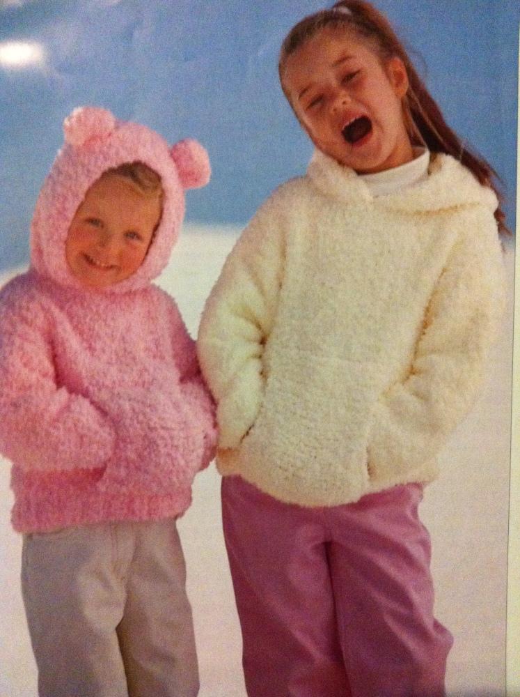 הוראות סריגה חינם: סוודר מתוק מתוק וקל לפעוטות וילדים